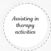 Assisting in therapy activities